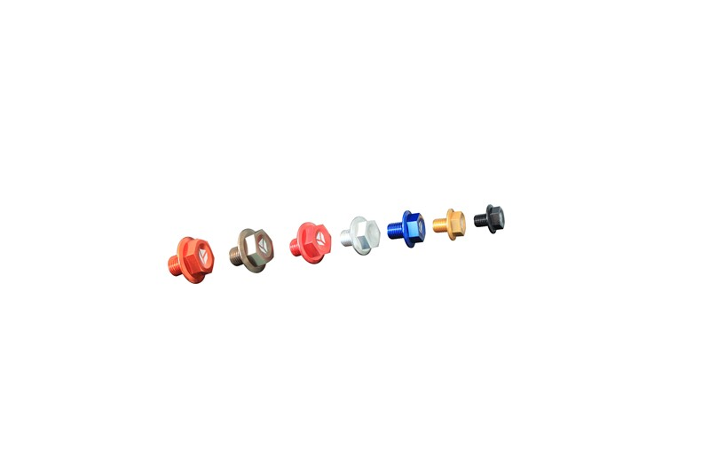 DRAIN PLUG MAGNETIC RED